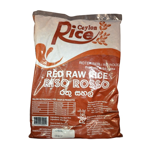 Ceylon Rice - Red Raw Rice 1kg