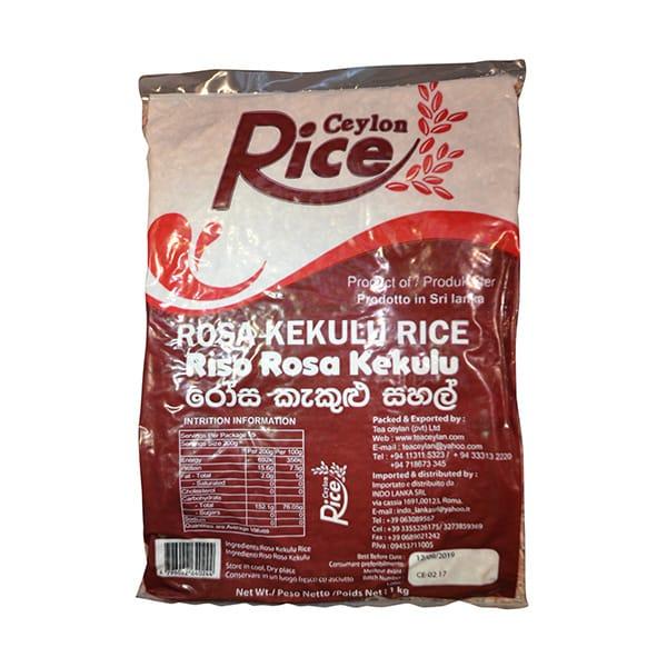 Ceylon Rice - Rosa Kekulu Rice 1kg
