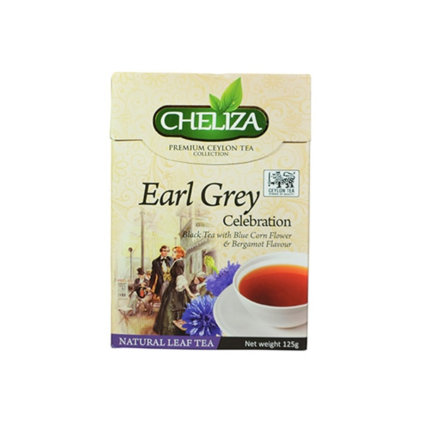 Cheliza - Premium Ceylon Tea Earl Grey Celebration Black Tea with Blue Corn Flour _ Bergamot Flavour 125g