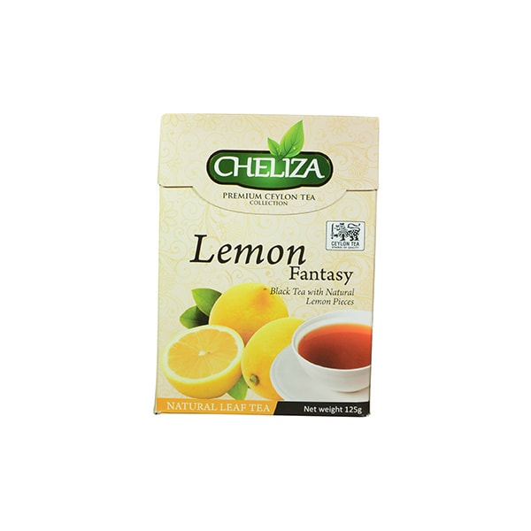 Cheliza - Premium Ceylon Tea Lemon Fantasy Black Tea with Natural Lemon Pieces 125g