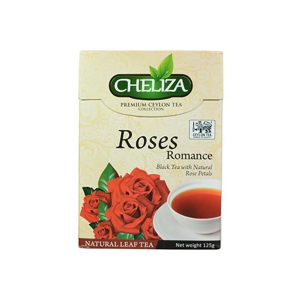 Cheliza - Premium Ceylon Tea Rose Romance Black Tea with Natural Rose Petals 125g