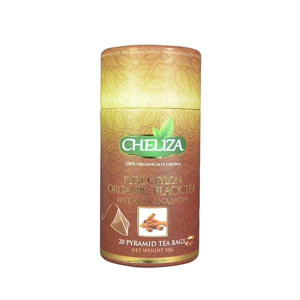 Cheliza - Pure Ceylon Organic Black Tea with cinnamon (20 bags) 50g