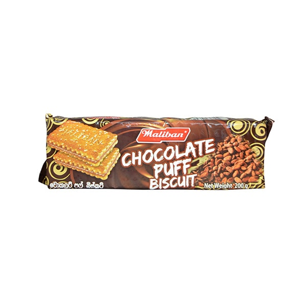 Maliban - Chocolate Puff Biscuit 200g