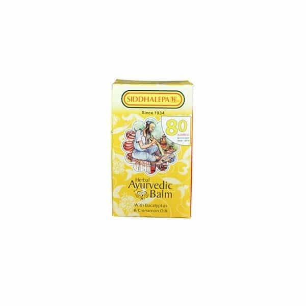 Siddhalepa - Ayurvedic Balm with Eucalyptus & Cinnamon Oils 25g