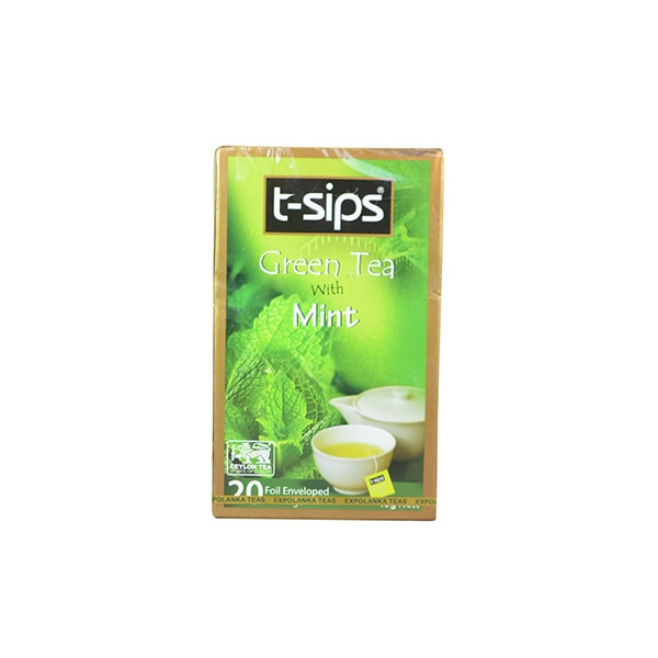 T-sips - Green Tea with Mint (20 bags) 40g