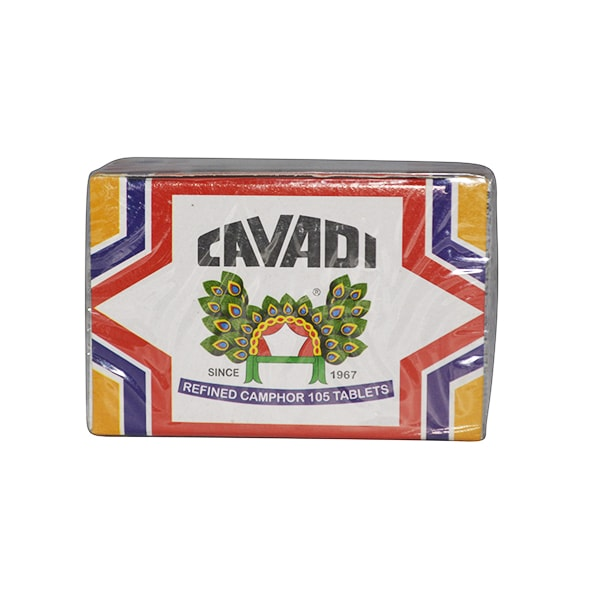 Cavadi - Refined Camphor (105 Tablets)