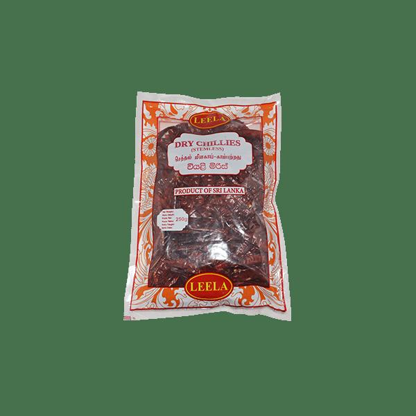 Leela - Dry Chillies (Stemless) 250g